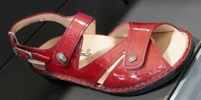 sandale finncomfort cuir rouge vernis
